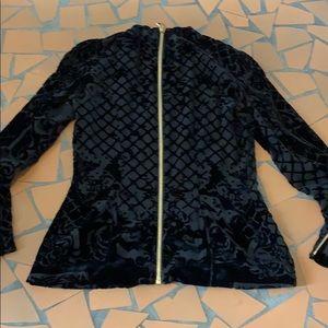 Balmain Tops - Balmain H & M black velvet top 10 fits like a 4